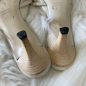 Gucci Shoes - Vintage Gucci Sandals w/logo charm